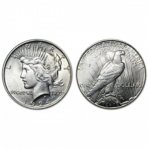 1924 S Peace Silver Dollar - BU