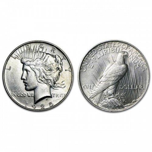 1925 Peace Silver Dollar - BU