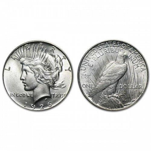1926 D Peace Silver Dollar - BU