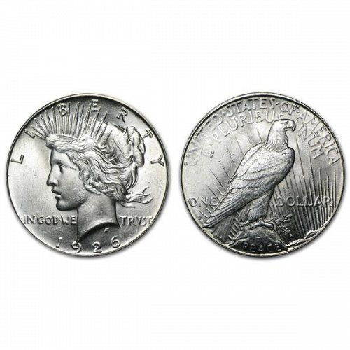 1926 S Peace Silver Dollar - BU