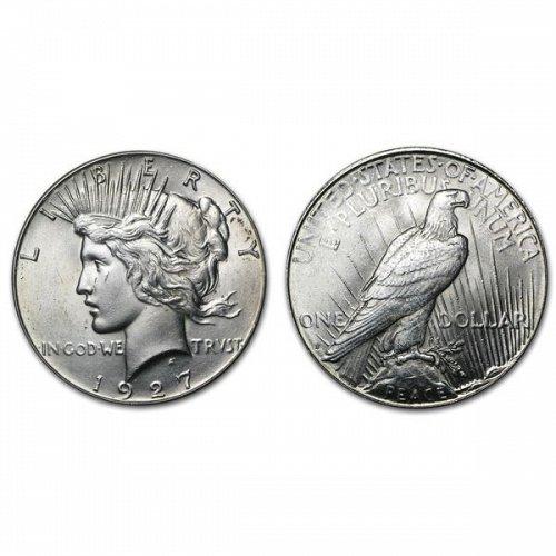 1927 S Peace Silver Dollar - BU
