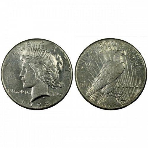 1928 Peace Silver Dollar - AU