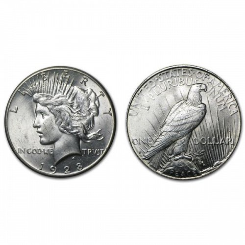1928 S Peace Silver Dollar - BU