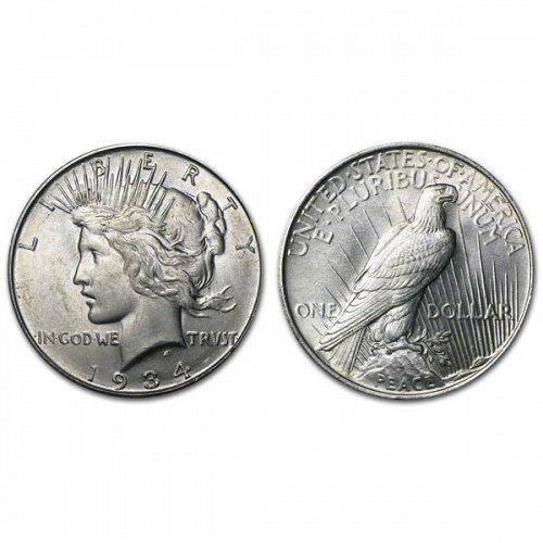 1934 Peace Silver Dollar - BU