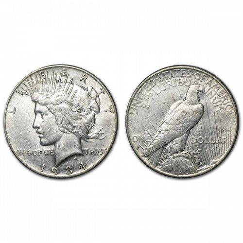 1934 S Peace Silver Dollar - XF