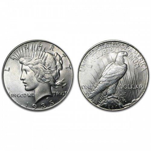 1935 S Peace Silver Dollar - BU