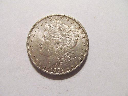 1882 O Morgan dollar