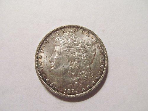 1884 O Morgan dollar