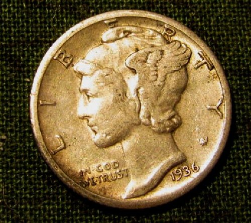 1936 S choice Mercury DIME  + 1 FREE Mercury!! ON $ale! A40a