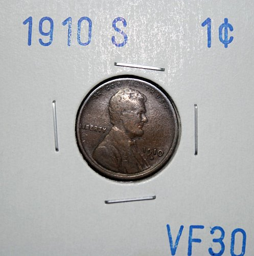1910 S Lincoln Wheat Back Cent