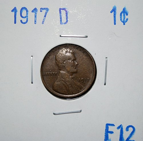 1917 D Lincoln Wheat Back Cent