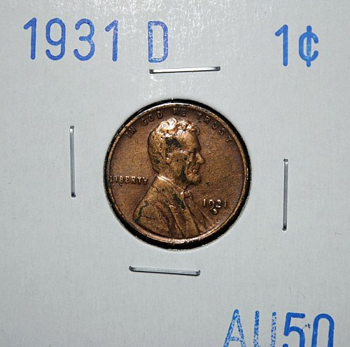 1931 D Lincoln Wheat Cent Small Cents