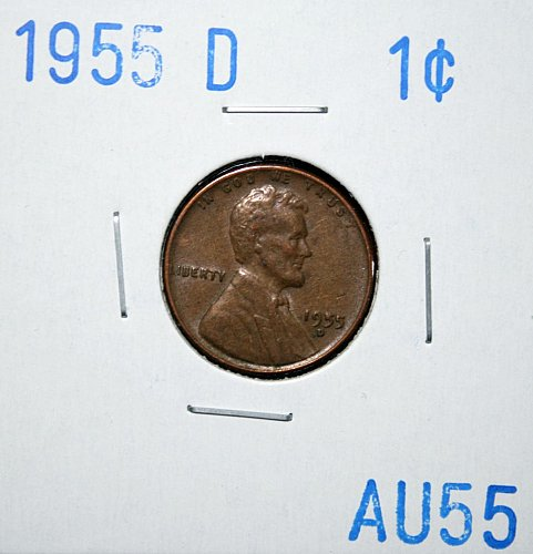 1955 D Lincoln Wheat Cent Small Cent