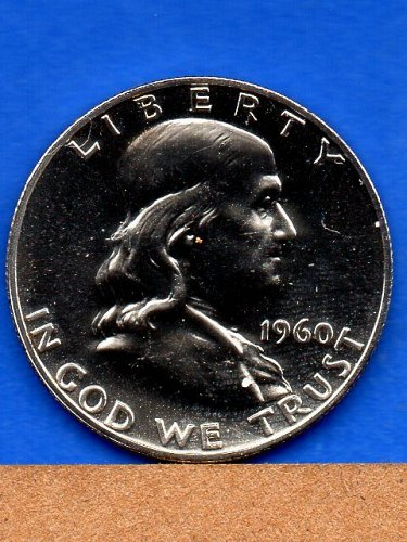 1960 FranklinSilver Proof Half Dollar Genuine Natural US Coin