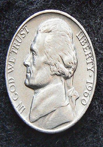 1960 P Jefferson Nickel (Circ)