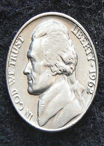 1962 P Jefferson Nickel (Circ)