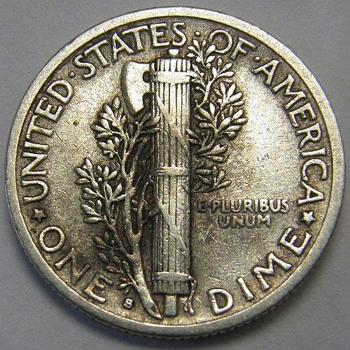 1945 S Mercury Dime Micro S #1