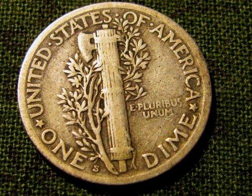 1917 S Mercury Dime  nice example!!  A-59 1 FREE Merc too!!!!