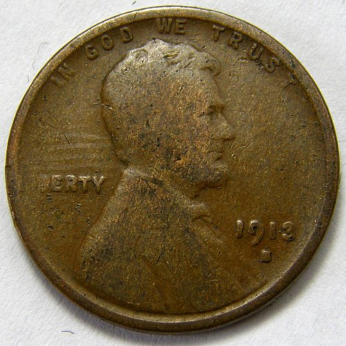1913 S Lincoln Wheat Cent #6