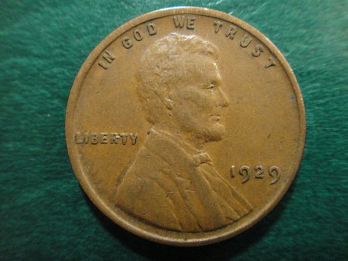 1929 Lincoln Cent Extra Fine-40 Nice Chocolate Brown!