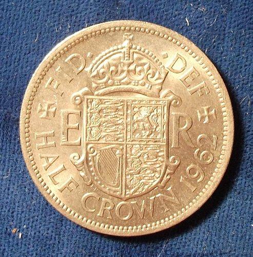 1962 Great Britain  Half Crown AU