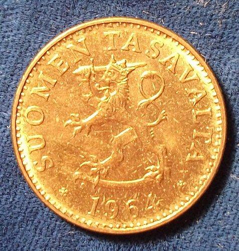 1964 Finland 50 Pennia AU