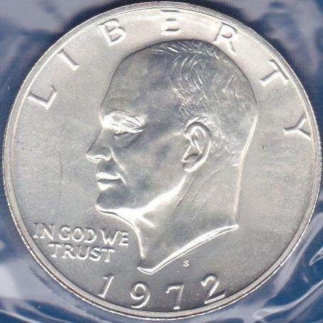 1972 S Eisenhower Dollar: Silver Clad