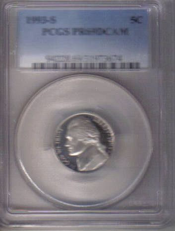 1993 S  PROOF JEFFERSON NICKEL