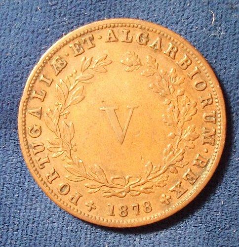 1878 Portugal 5 Reis VF