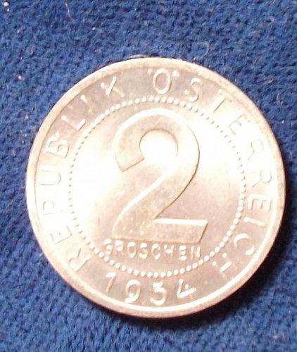 1954 Austria 2 Groschen UNC