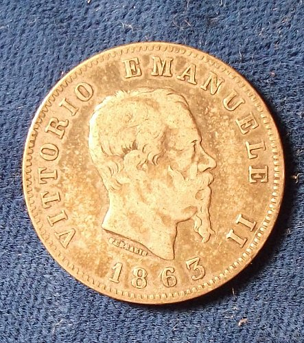 1863 M BN Italy Lira Fine