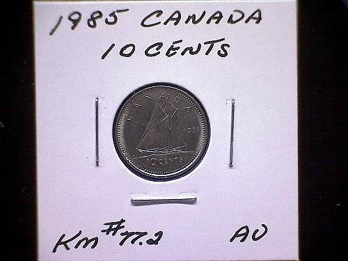 1985 CANADA QUEEN ELIZABETH 11  10 CENT COIN