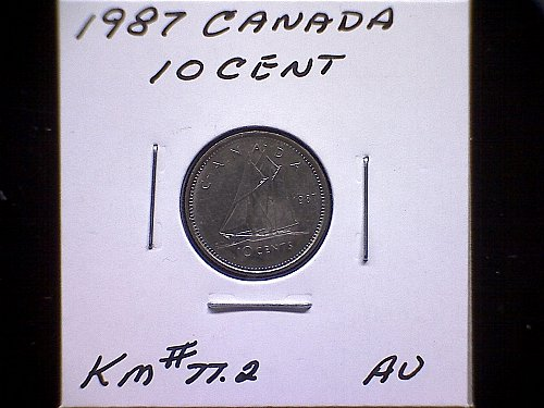 1987 CANADA QUEEN ELIZABETH 11  10 CENT COIN