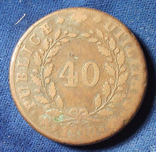 1830 Portugal 40 Reis VG-Fine