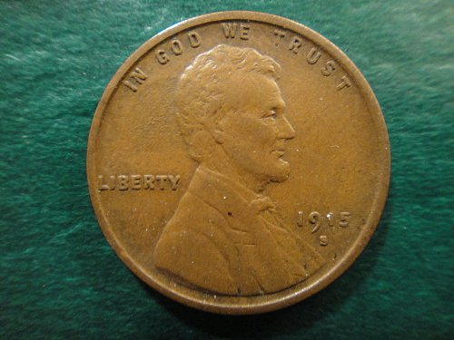 1915-S Lincoln Cent Extra Fine-45 Razor Sharp Wheat Lines & Hair!