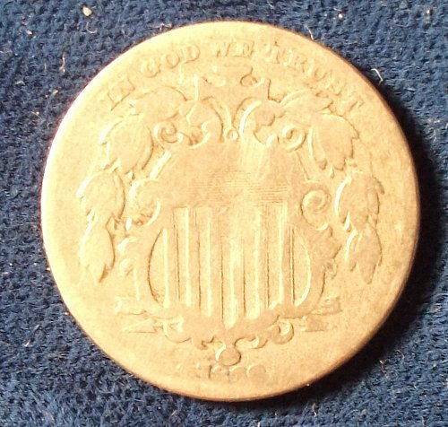 1869 Shield Nickel AG/G