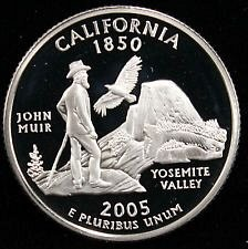 2005 S SILVER PROOF  CALIFORNIA STATE QUARTER