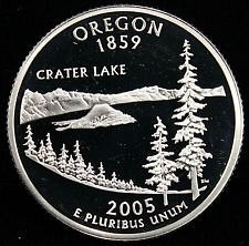 2005 S SILVER PROOF OREGON STATE QUARTER