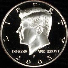 2005 S  SILVER PROOF KENNEDY HALF DOLLAR