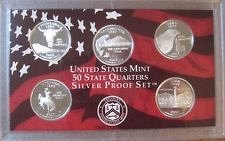 2007 S  SILVER PROOF  WYOMING STATE QUARTER