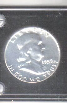 1959 SILVER PROOF FRANKLIN HALF DOLLAR