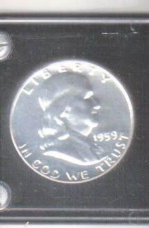 1959 SILVER PROOF FRANKLIN HALF DOLLAR