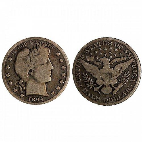 1894 O Barber Half Dollar - VG