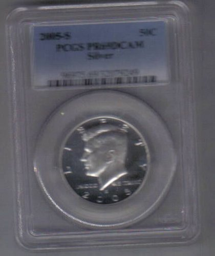 2005 S  SILVER PROOF KENNEDY HALF DOLLAR