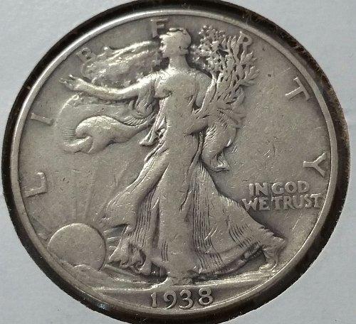 1938 D Walking Liberty Half Dollar - Fine