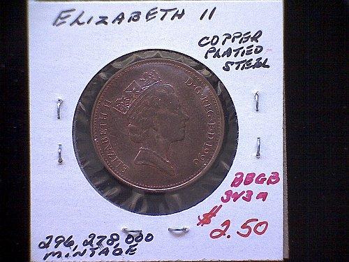 1996 GREAT BRITAIN QUEEN ELIZABETH 11  TWO PENCE