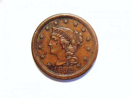 1852 Braided Hair Liberty Head Large Cent