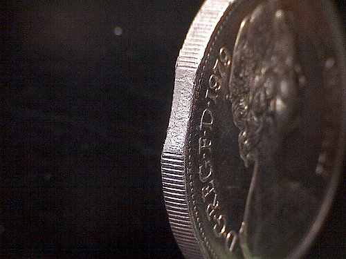 "1979 GREAT BRITAIN QUEEN ELIZABETH 11  TEN PENCE  ""MINT ERROR"""