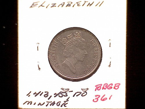 1992 GREAT BRITAIN QUEEN ELIZABETH 11  TEN PENCE