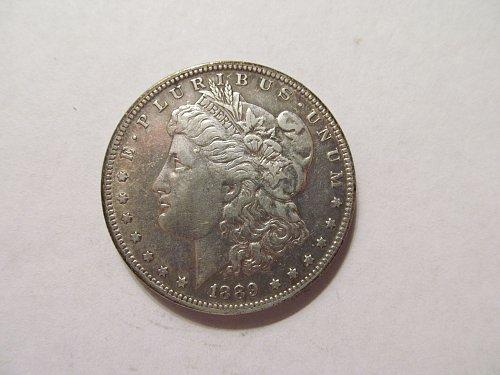 1889 O Morgan dollar